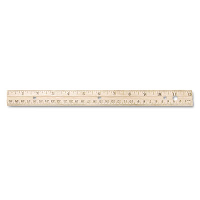 Acme United 10702 Westcott Three-Hole Punched Wood Ruler