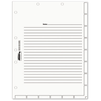 Tabbies 54520 Medical Chart Index Divider Sheets