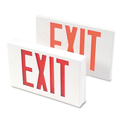 Tatco 07230 LED Exit Sign with Battery Back-Up