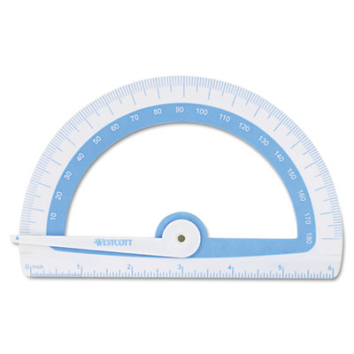Acme United 14376 Westcott Student Protractor with Antimicrobial Product Protection