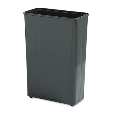 Rubbermaid WB96RBLACT Commercial Fire-Safe Steel Rectangular Wastebaskets