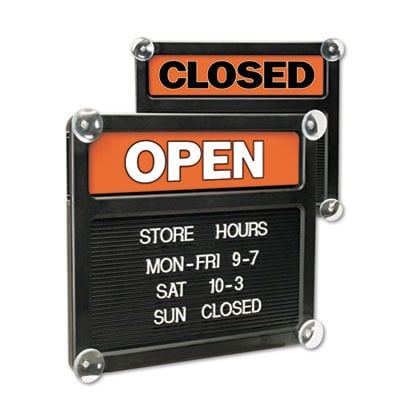 U. S. Stamp &  Sign 3727 Headline Sign Double-Sided Open/Closed Sign